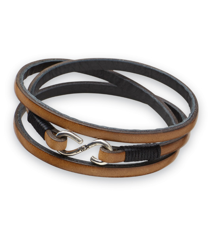 Kenton Michael Leather Wrap Bracelet