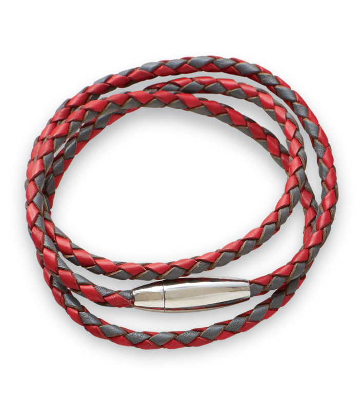 Kenton Michael Braided Leather Wrap Bracelet