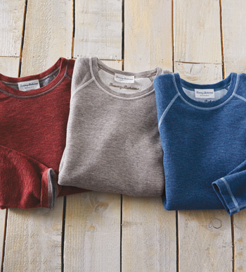 Reversible Long Sleeve Crewneck Tee Shirt