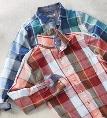 Heredia Plaid Flannel Long Sleeve Sport Shirt