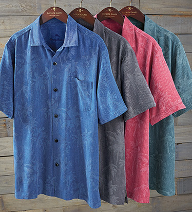 Digital Palms Short Sleeve Camp Shirt