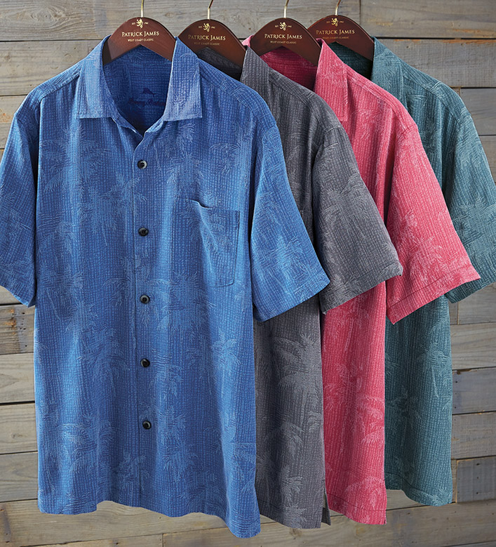 Tommy Bahama Digital Palms Short Sleeve Camp Shirt