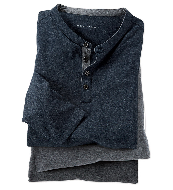 Robert Barakett Flynn Long Sleeve Henley Shirt