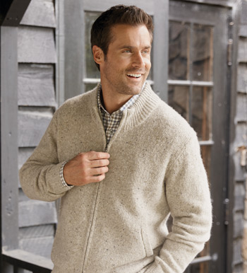 Tweed Zippered Cardigan