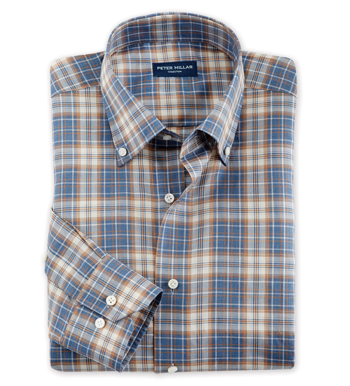 Peter Millar Bergen Plaid Long Sleeve Sport Shirt