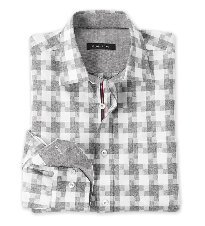 Bugatchi Uomo Pinwheel Check Long Sleeve Sport Shirt