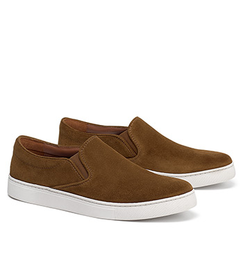 Alex Snuff Suede Slip-On Shoes