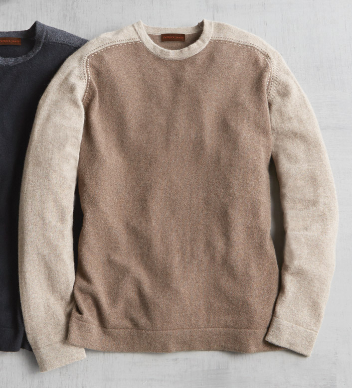 Patrick James Color Block Cashmere Sweater