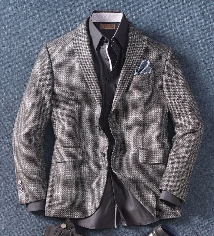 Reserve Black White Check Sport Coat