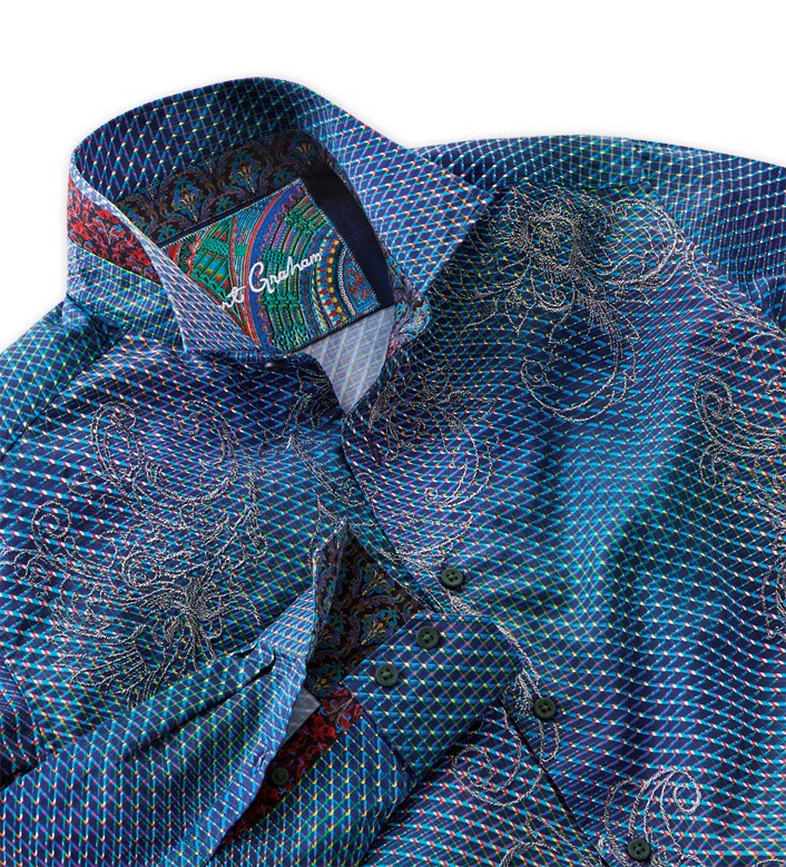 Robert Graham Marsh Print Long Sleeve Sport Shirt