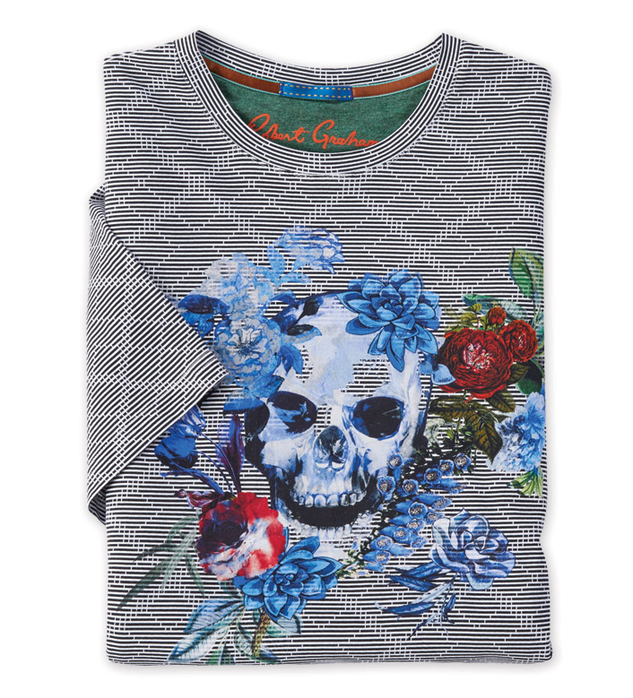 Robert Graham Naylor Skull Short Sleeve Tee Shirt