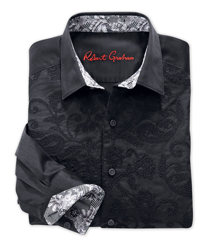 Robert Graham Henderson Embroidered Long Sleeve Sport Shirt