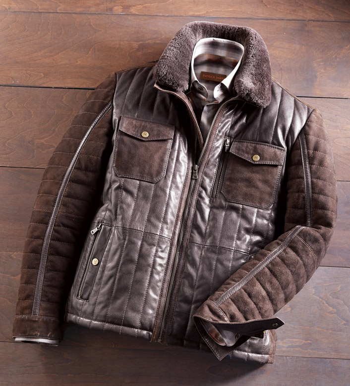 Patrick James Quilted Leather Jacket