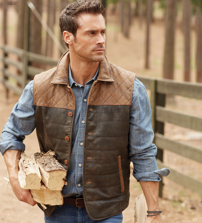 Patrick James Quilted Leather Vest