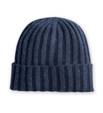 Ribbed Cashmere Cap