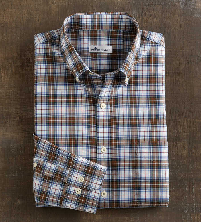 Peter Millar Maplewood Tartan Long Sleeve Sport Shirt