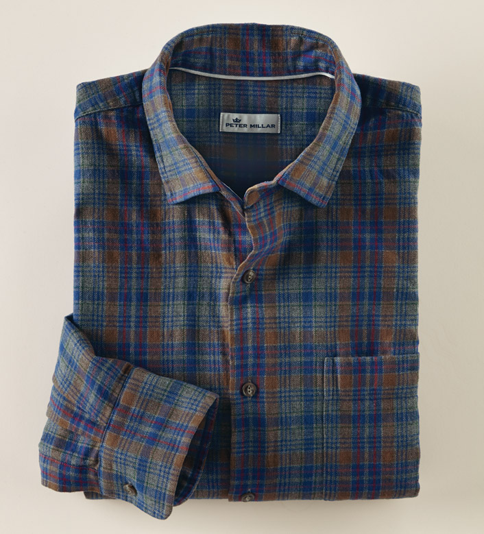 Peter Millar Linville Gorge Long Sleeve Flannel Sport Shirt