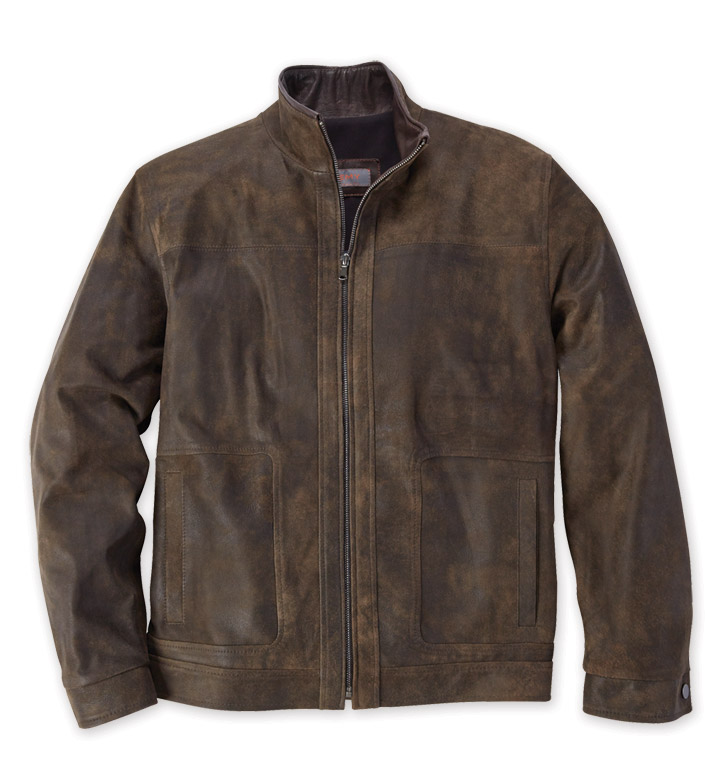 Remy Leather Rustic Blouson Jacket
