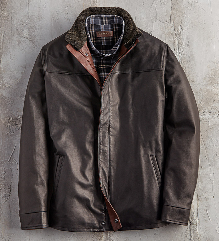 Remy Leather Three-Quarter Length Jacket