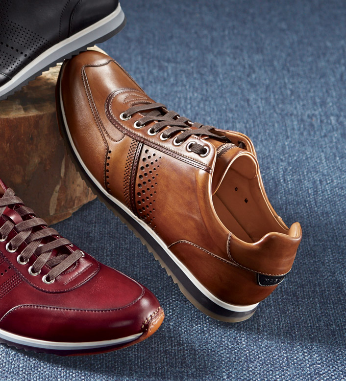 Magnanni Cuero Leather Sneakers