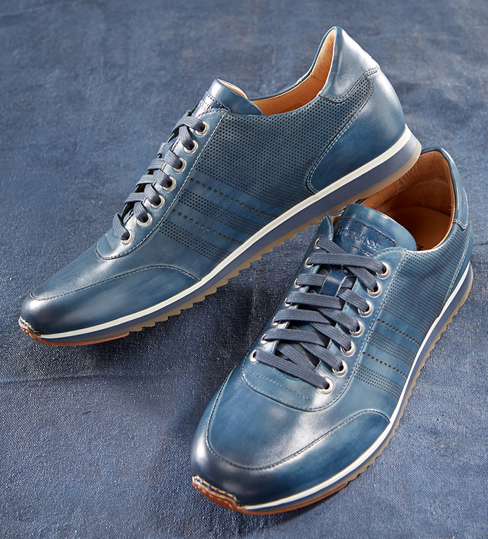 Magnanni Merino Navy Leather Sneakers