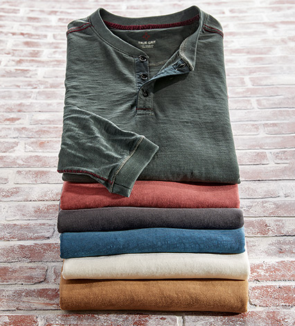 Venice Long Sleeve Henley Shirt