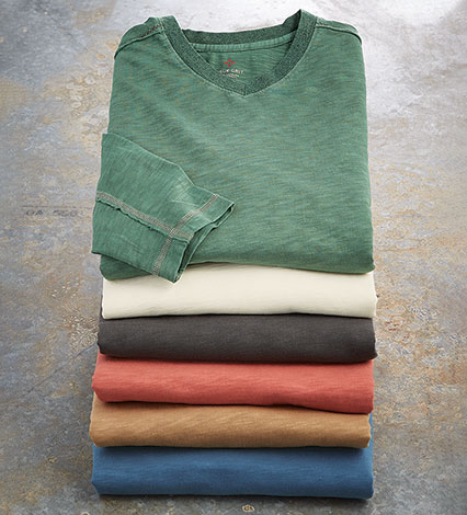 Venice Long Sleeve V-Neck Tee Shirt