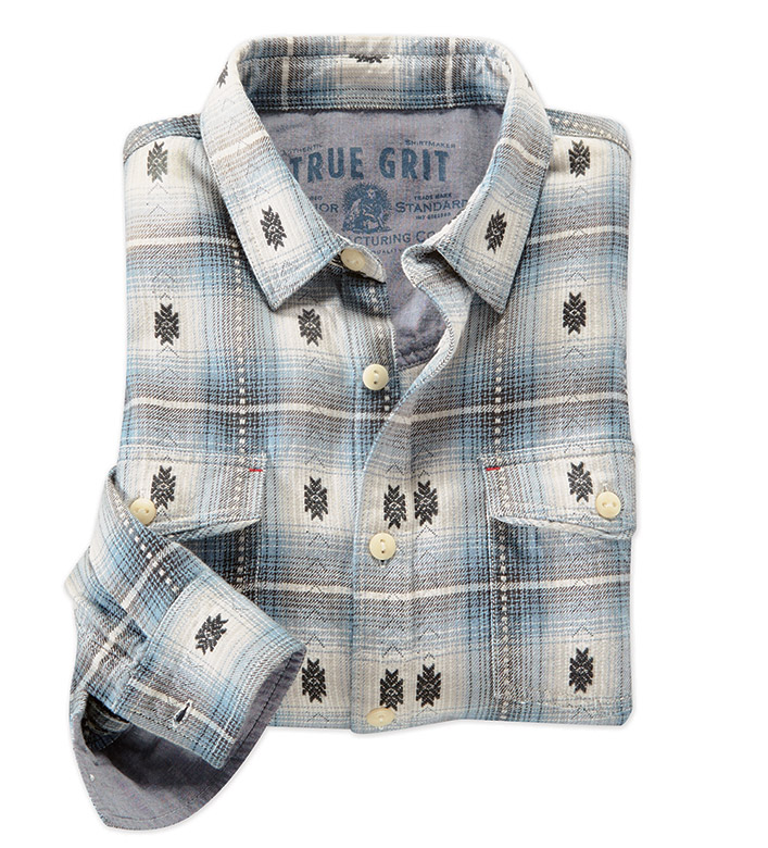 True Grit Icon Check Summit Long Sleeve Plaid Sport Shirt