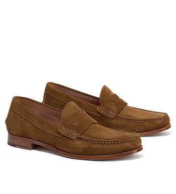 Sadler Snuff Suede Penny Loafers