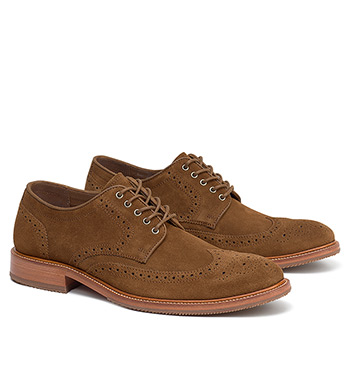 Logan Snuff Suede Wingtip Shoes