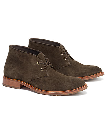 Landers Olive Suede Chukka Boots