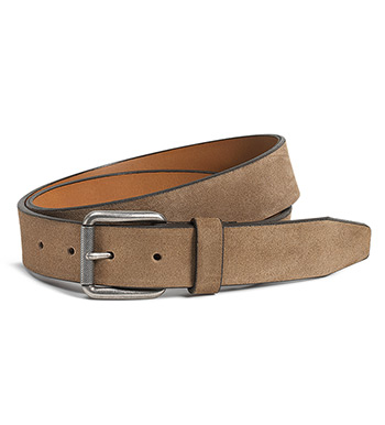 Cash Taupe English Suede Belt