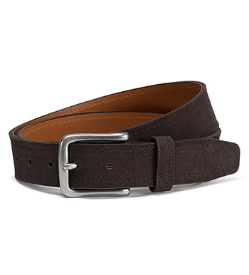 Sutton Charcoal Brown Suede Belt