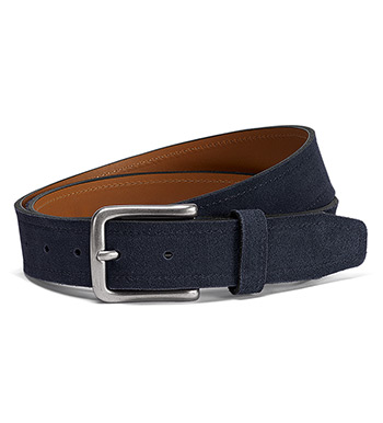 Sutton Navy Suede Belt