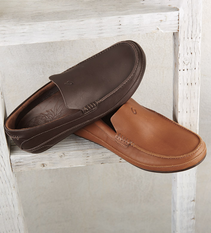 OluKai Kulana Leather Slip-Ons