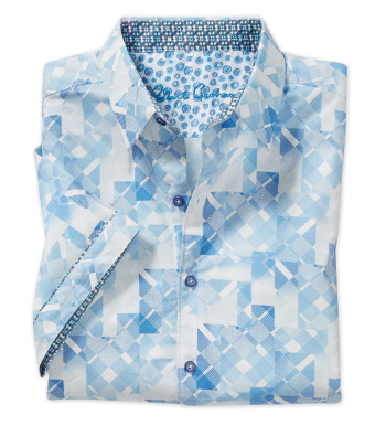 Athens Abstract Short Sleeve Sport Shirt