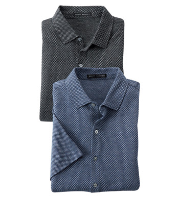 Carson Short Sleeve Knit Polo Shirt