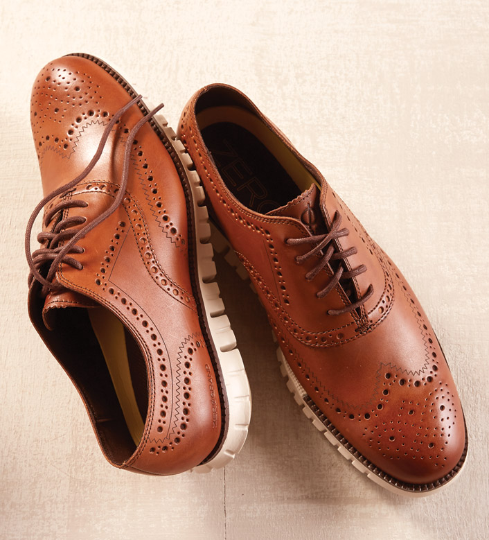 8b5c8be322c84c Cole Haan British Tan Zerogrand Wingtip Oxford Shoes