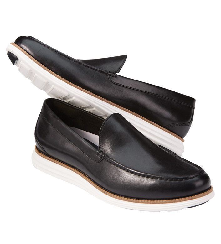 Cole Haan Black Grand Venetian Loafers