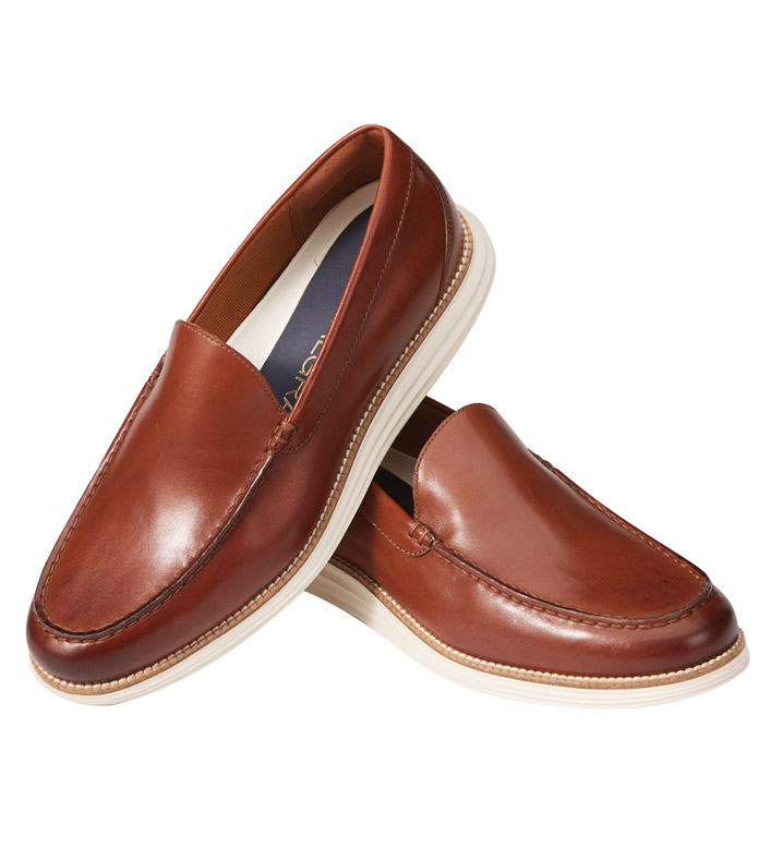 Cole Haan British Tan Grand Venetian Loafers