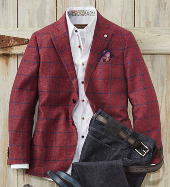 Windowpane Soft Sport Coat