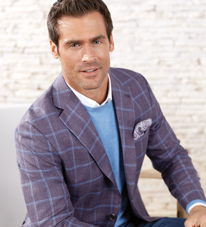 Reserve Lavender Windowpane Sport Coat