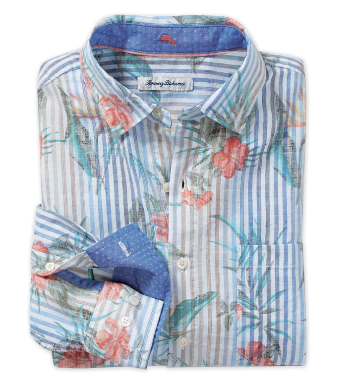 Tommy Bahama Villa Blooms Long Sleeve Sport Shirt