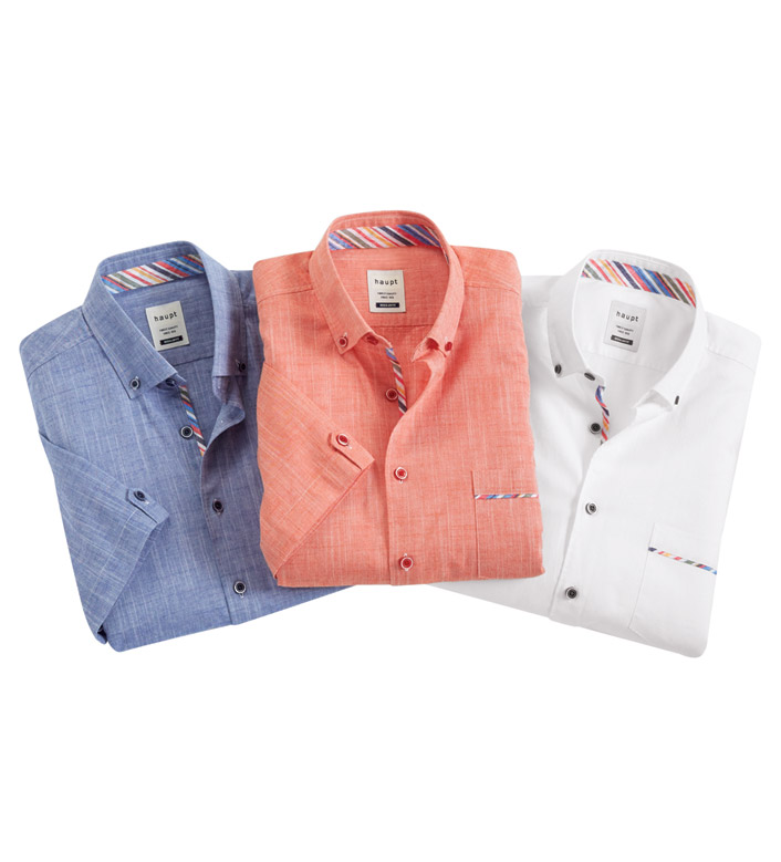 Haupt Slub Cotton Short Sleeve Sport Shirt