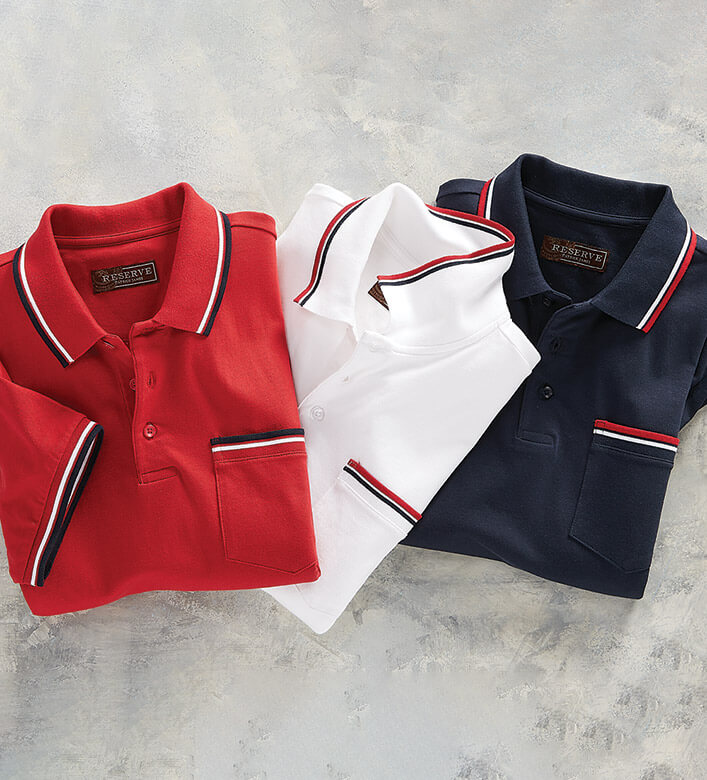 Reserve Shoreham Pique Short Sleeve Polo Shirt