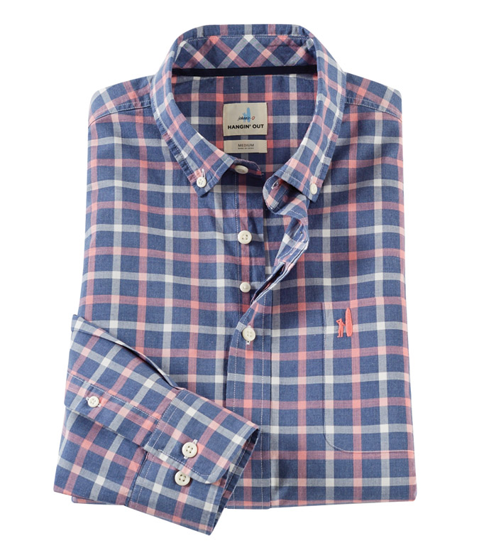 Johnnie-O Oscar Plaid Long Sleeve Sport Shirt