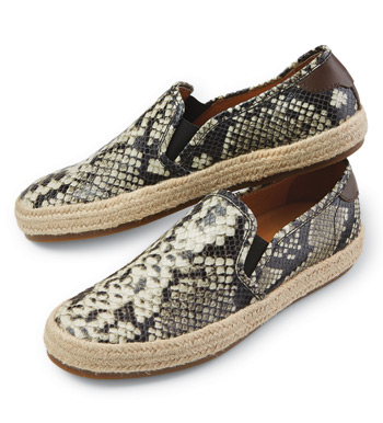 Grayson Python Print Slip-On Shoes