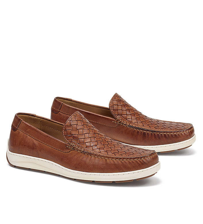 Trask Tan Silas Woven Slip-Ons