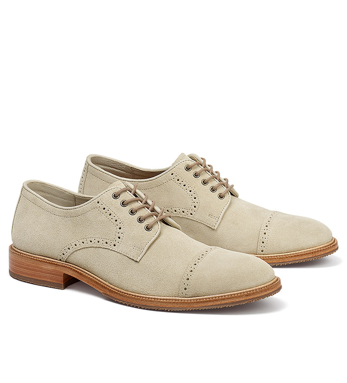 Trask Linwood English Suede Oxfords