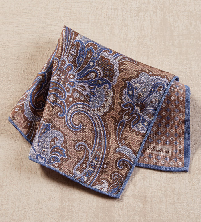 Stenstroms Mink Silk Pocket Square